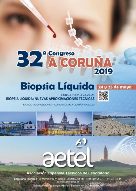 """32º Congreso Nacional AETEL 2019: """"BIOPSIA LÍQUIDA"""""""