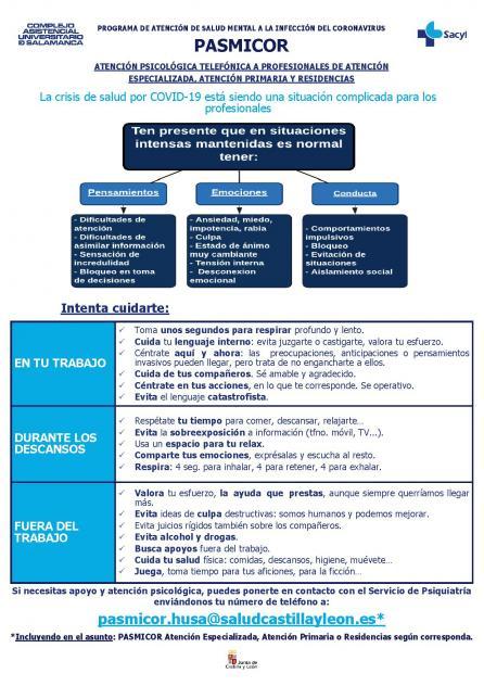 Ayuda psicológica profesionales sanitarios Covid-19