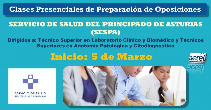 Clases Presenciales Oposiciones Asturias. TSLCB y TSAPyC