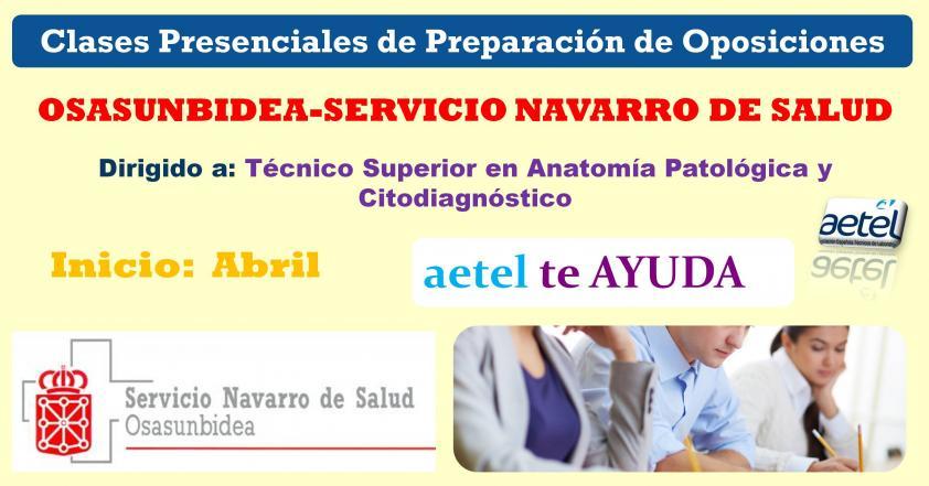 Clases Presenciales Oposiciones Navarra. TSAPyC