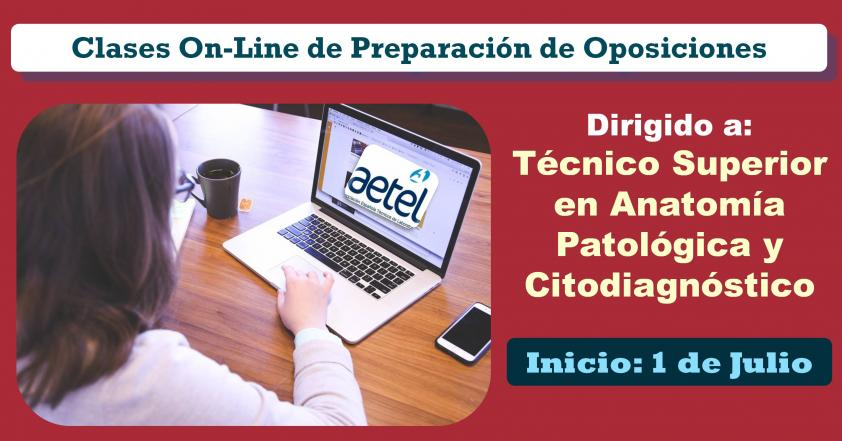 Curso OnLine Preparación Oposiciones. Categoría: T.S. Anatomía Patológica y Citodiagnóstico