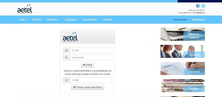Registro en la Nueva Página Web