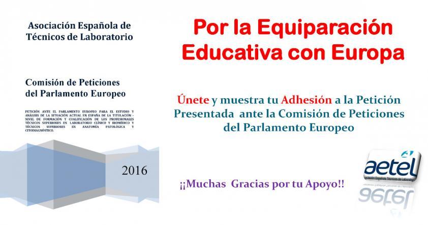 Respuesta de la Comisión de Peticiones. Por la Equiparación Educativa con Europa